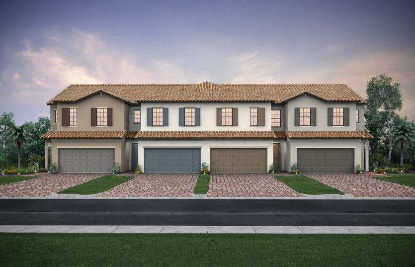 Exterior featured in the Leland By DiVosta Homes in Palm Beach County, FL