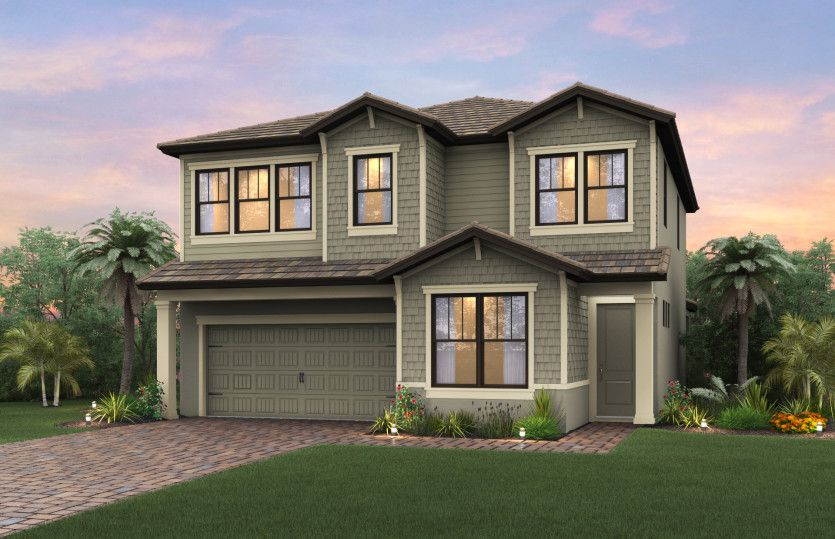 Exterior featured in the Riverwalk By DiVosta Homes in Palm Beach County, FL