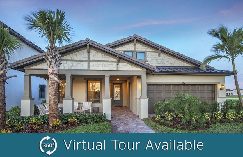 Exterior featured in the Summerwood By DiVosta Homes in Palm Beach County, FL