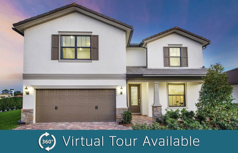 Exterior featured in the Citrus Grove By DiVosta Homes in Palm Beach County, FL