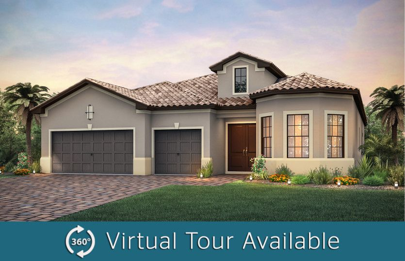 Exterior featured in the Stonewater By DiVosta Homes in Palm Beach County, FL