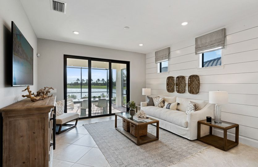 Living Area featured in the Contour By DiVosta Homes in Sarasota-Bradenton, FL