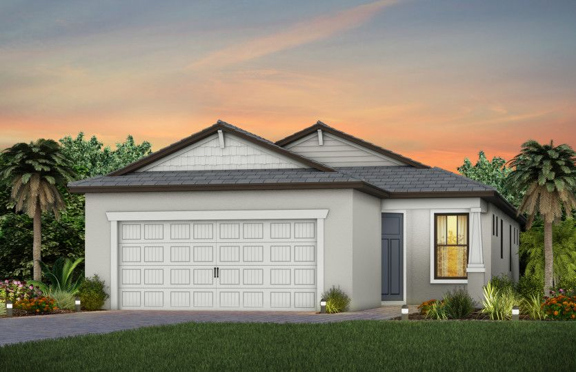 Exterior featured in the Contour By DiVosta Homes in Sarasota-Bradenton, FL