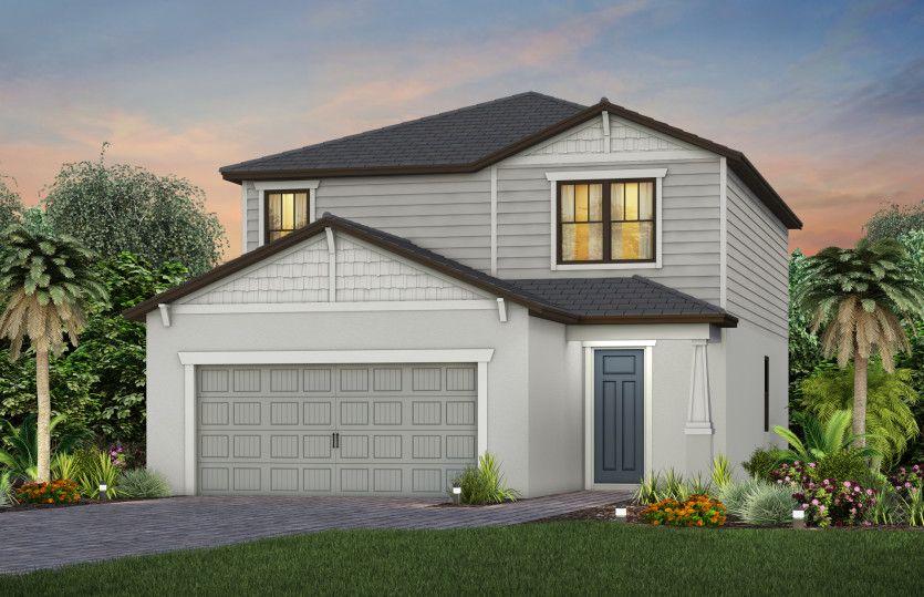 Exterior featured in the Morris By DiVosta Homes in Sarasota-Bradenton, FL