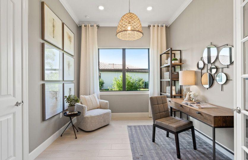 Living Area featured in the Prestige By DiVosta Homes in Sarasota-Bradenton, FL