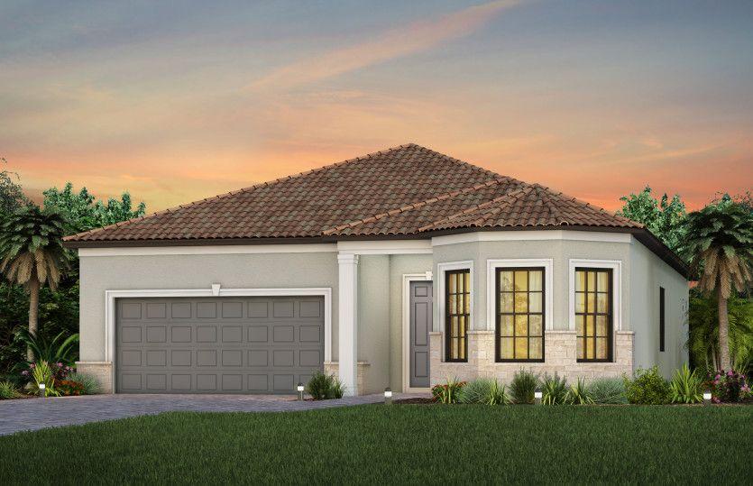 Exterior featured in the Prestige By DiVosta Homes in Sarasota-Bradenton, FL
