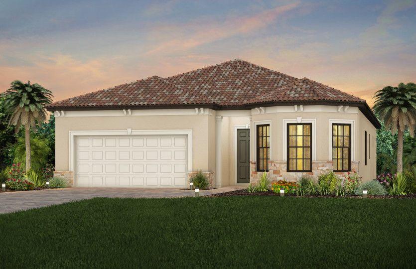 Exterior featured in the Prosperity By DiVosta Homes in Sarasota-Bradenton, FL