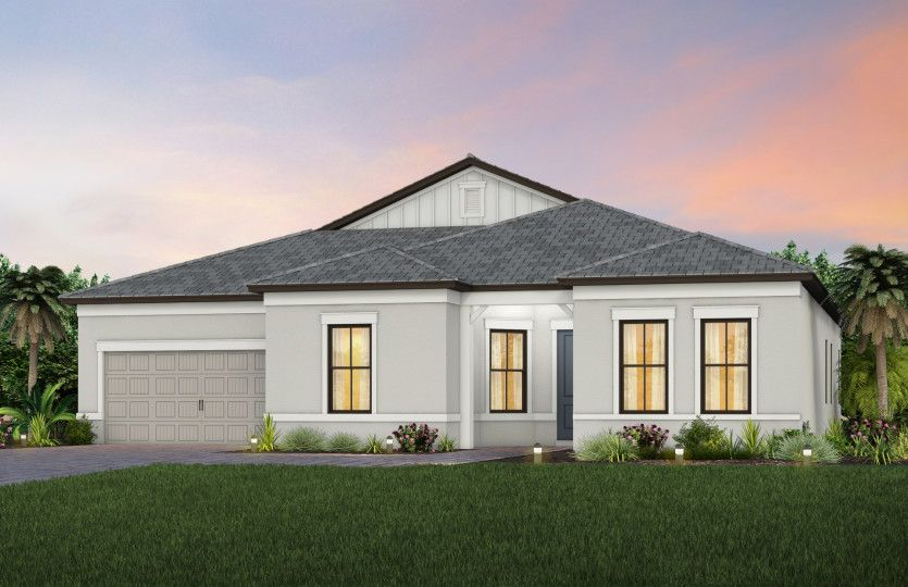 Exterior featured in the Reverence By DiVosta Homes in Sarasota-Bradenton, FL