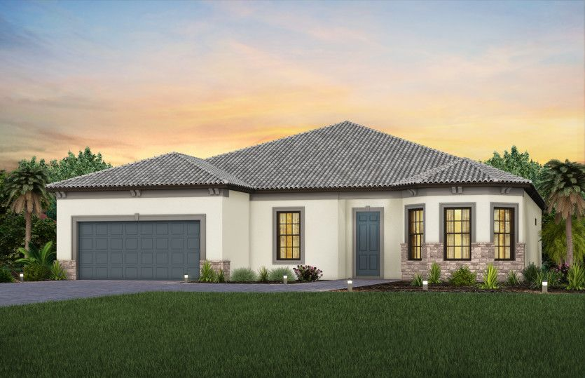 Exterior featured in the Stardom By DiVosta Homes in Sarasota-Bradenton, FL