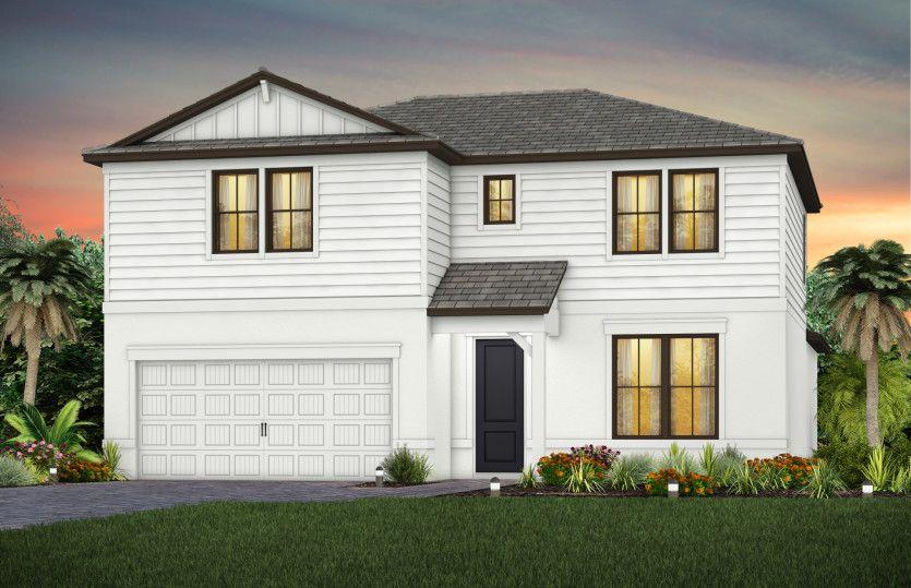Exterior featured in the Whitestone By DiVosta Homes in Sarasota-Bradenton, FL