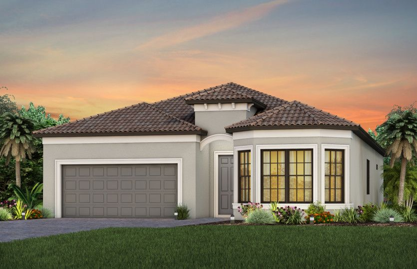 Exterior featured in the Palmary By DiVosta Homes in Sarasota-Bradenton, FL