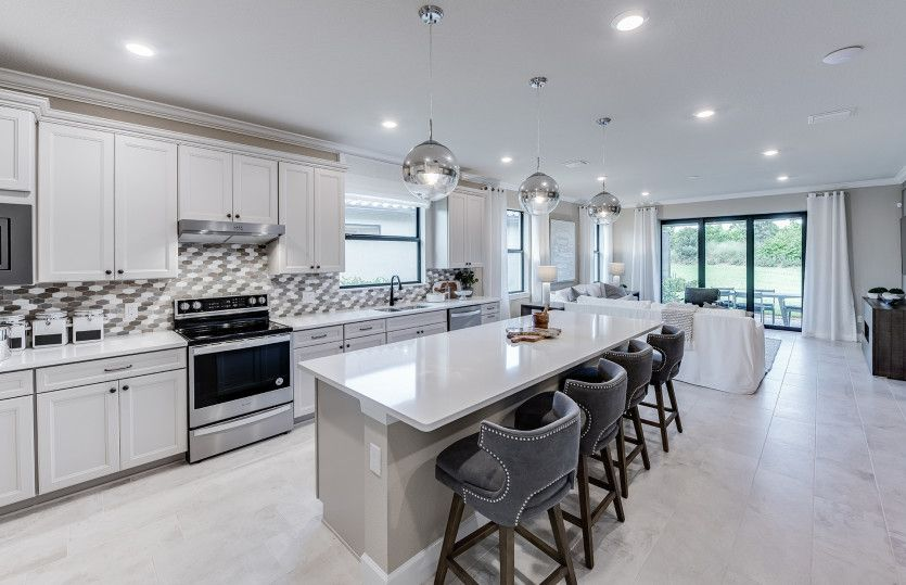Kitchen featured in the Mainstay By DiVosta Homes in Indian River County, FL