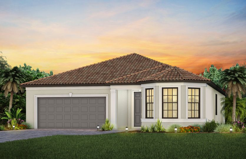 Exterior featured in the Prestige By DiVosta Homes in Naples, FL