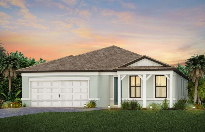 Exterior featured in the Mystique By DiVosta Homes in Naples, FL