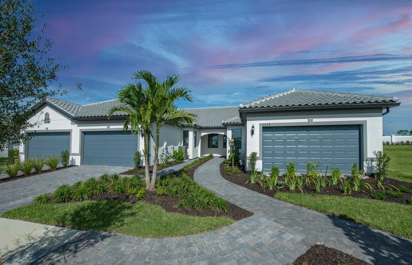 Exterior featured in the Cascadia By DiVosta Homes in Sarasota-Bradenton, FL