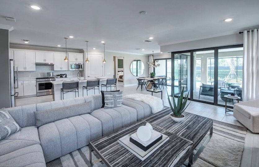 Living Area featured in the Mystique By DiVosta Homes in Naples, FL