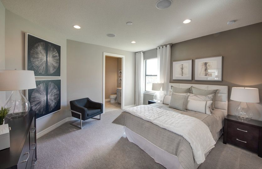 Bedroom featured in the Tangerly Oak By DiVosta Homes in Palm Beach County, FL