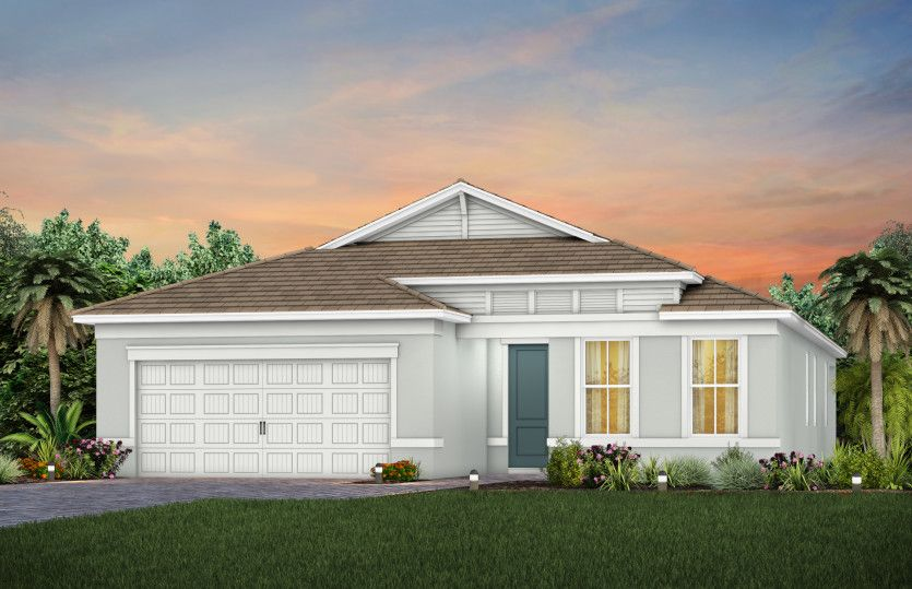 Exterior featured in the Mystique By DiVosta Homes in Palm Beach County, FL