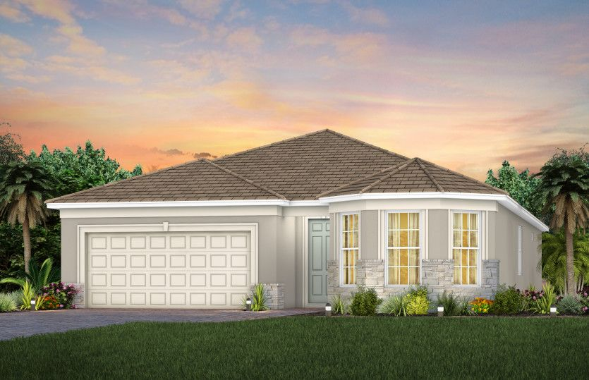Exterior featured in the Palmary By DiVosta Homes in Palm Beach County, FL