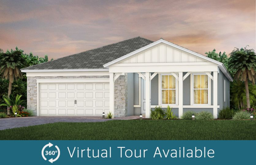 Exterior featured in the Prestige By DiVosta Homes in Palm Beach County, FL