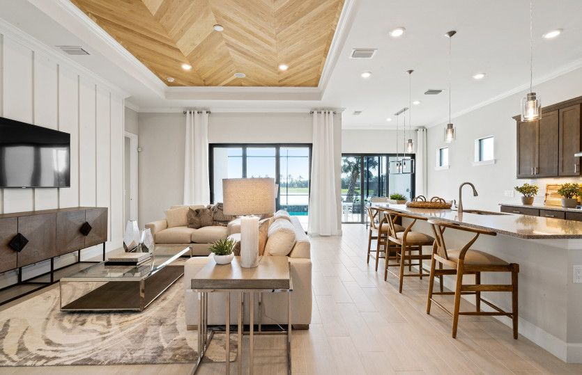 Living Area featured in the Prestige By DiVosta Homes in Palm Beach County, FL