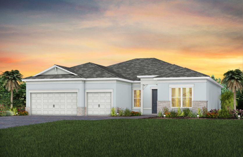 Exterior featured in the Stellar By DiVosta Homes in Palm Beach County, FL