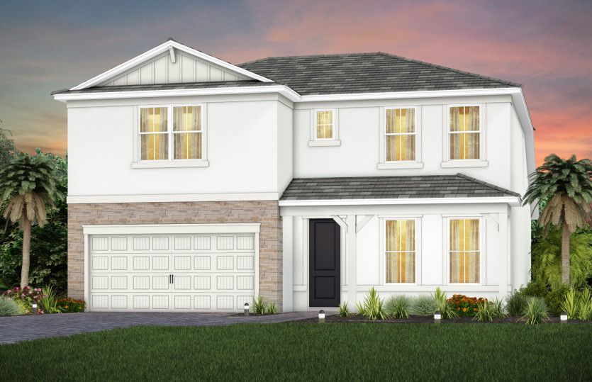 Exterior featured in the Whitestone By DiVosta Homes in Palm Beach County, FL