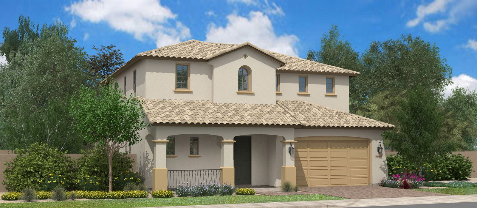 Exterior featured in the Manchester Beach By Fulton Homes in Phoenix-Mesa, AZ