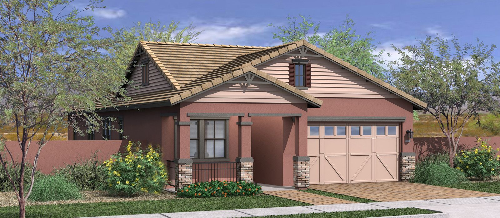 Exterior featured in the Evergreen Elm By Fulton Homes in Phoenix-Mesa, AZ