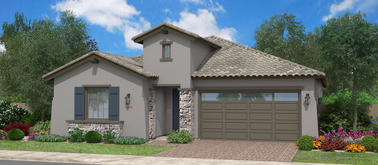 Exterior featured in the Sunset Bay By Fulton Homes in Phoenix-Mesa, AZ
