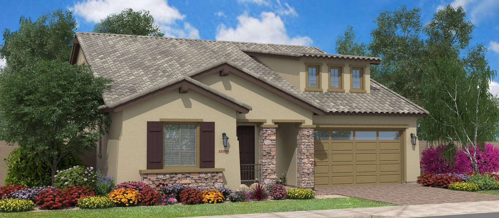 Exterior featured in the Seaside w/Loft By Fulton Homes in Phoenix-Mesa, AZ