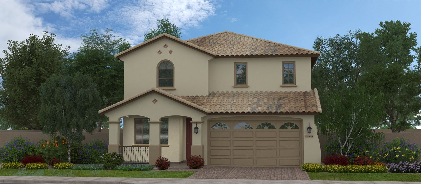 Exterior featured in the Montelena By Fulton Homes in Phoenix-Mesa, AZ