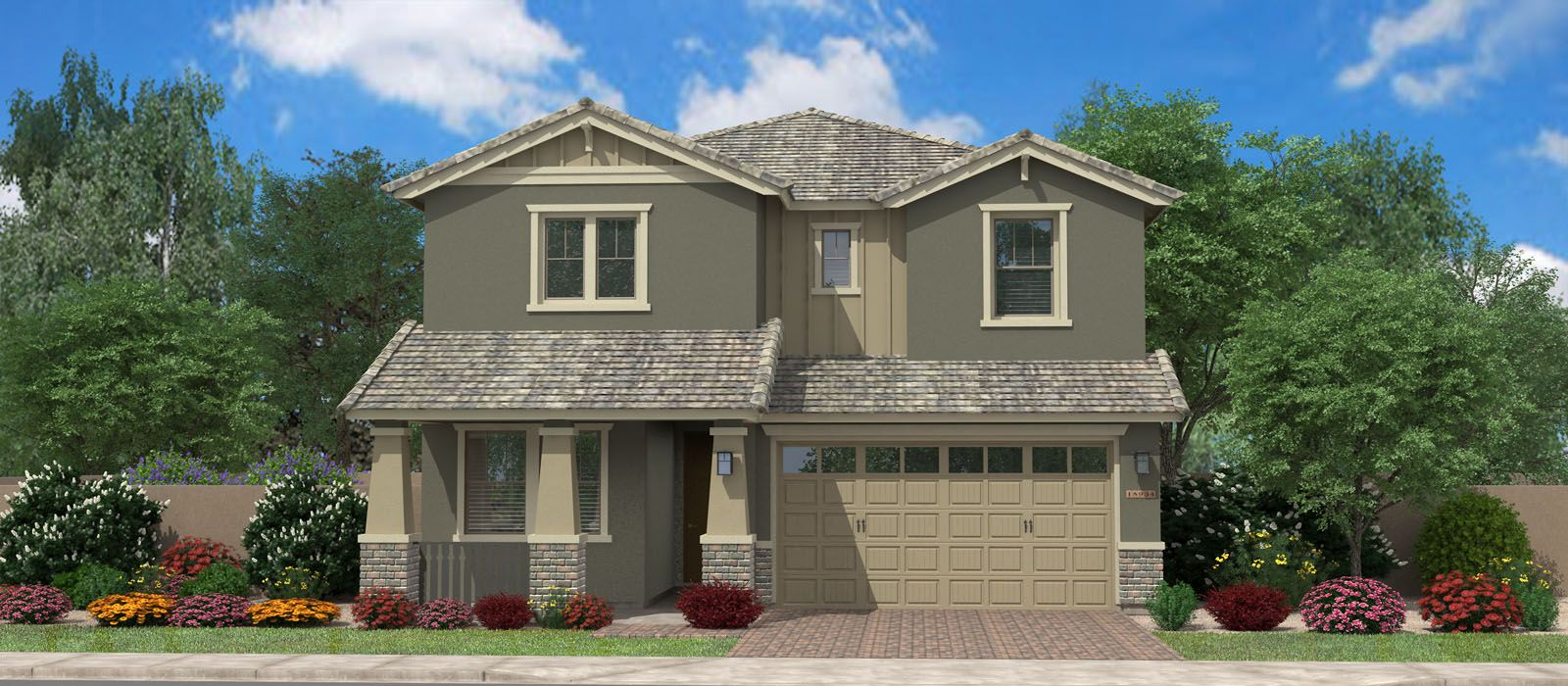 Exterior featured in the Tamber Bey By Fulton Homes in Phoenix-Mesa, AZ
