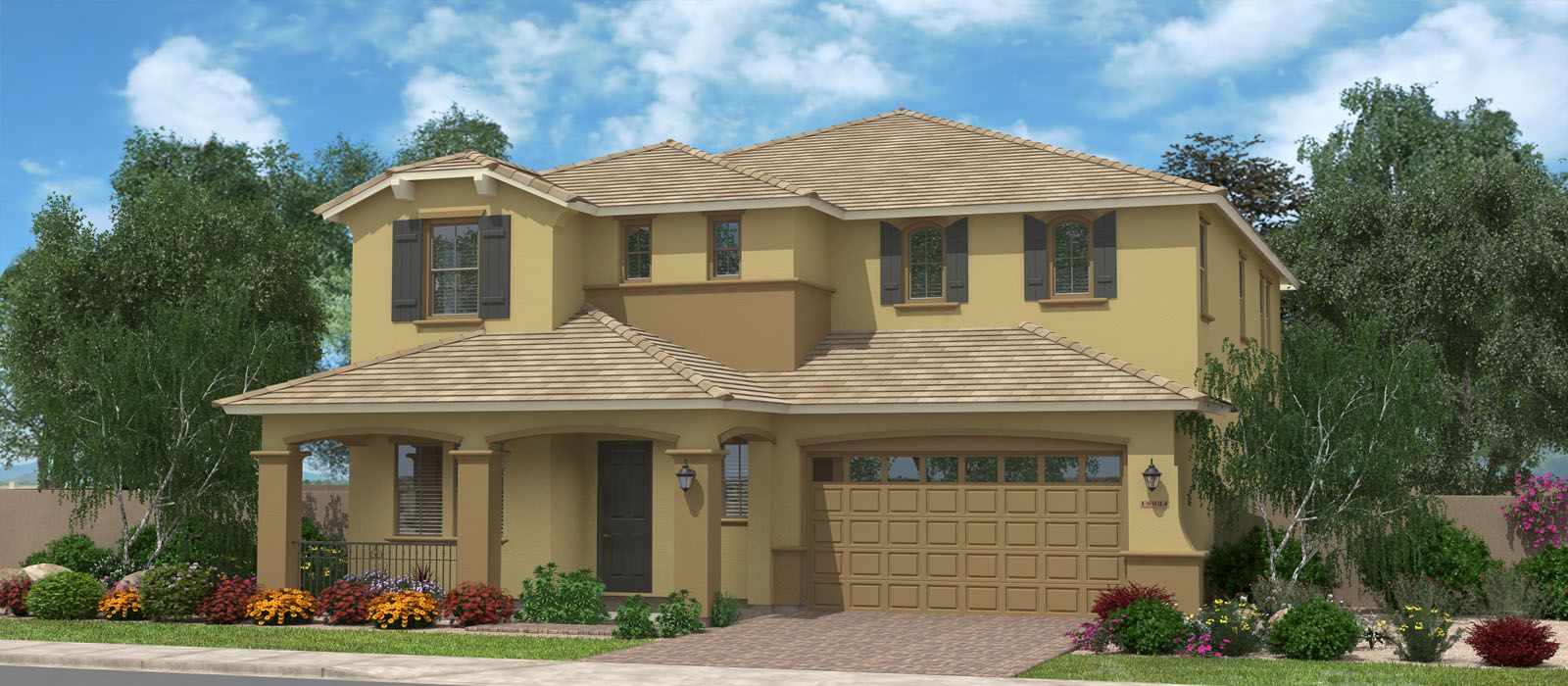 Exterior featured in the Sea Ranch By Fulton Homes in Phoenix-Mesa, AZ