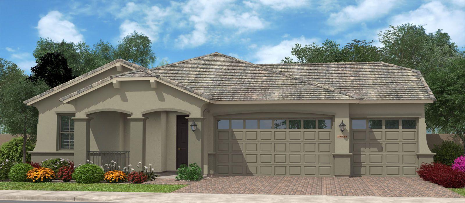 Exterior featured in the Rockaway Super Garage By Fulton Homes in Phoenix-Mesa, AZ