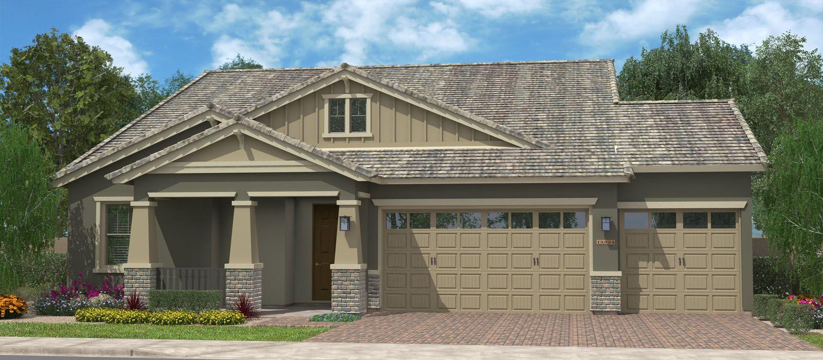 Exterior featured in the Rockaway Super Garage w/Loft By Fulton Homes in Phoenix-Mesa, AZ