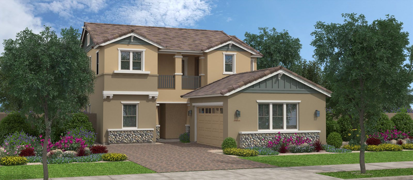 Exterior featured in the Pioneer By Fulton Homes in Phoenix-Mesa, AZ