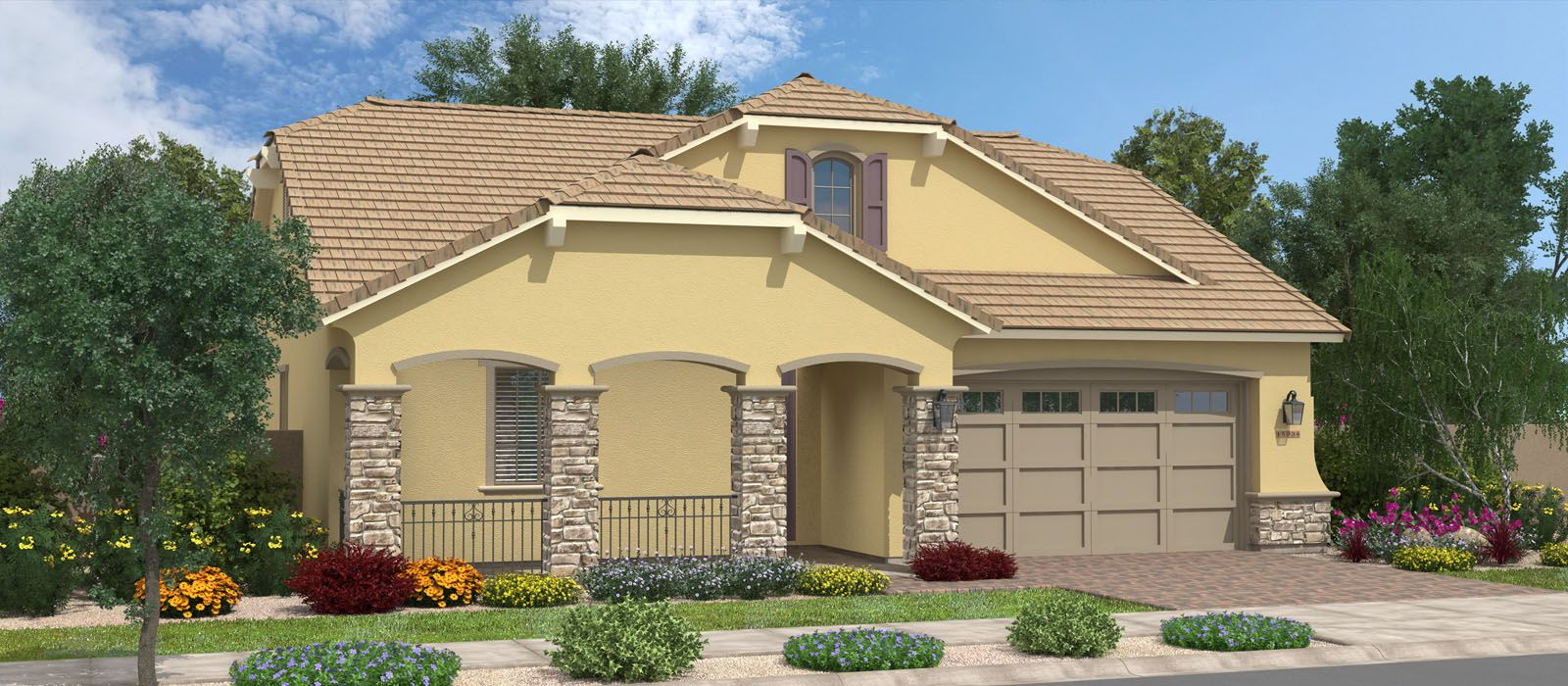 Exterior featured in the Acacia By Fulton Homes in Phoenix-Mesa, AZ