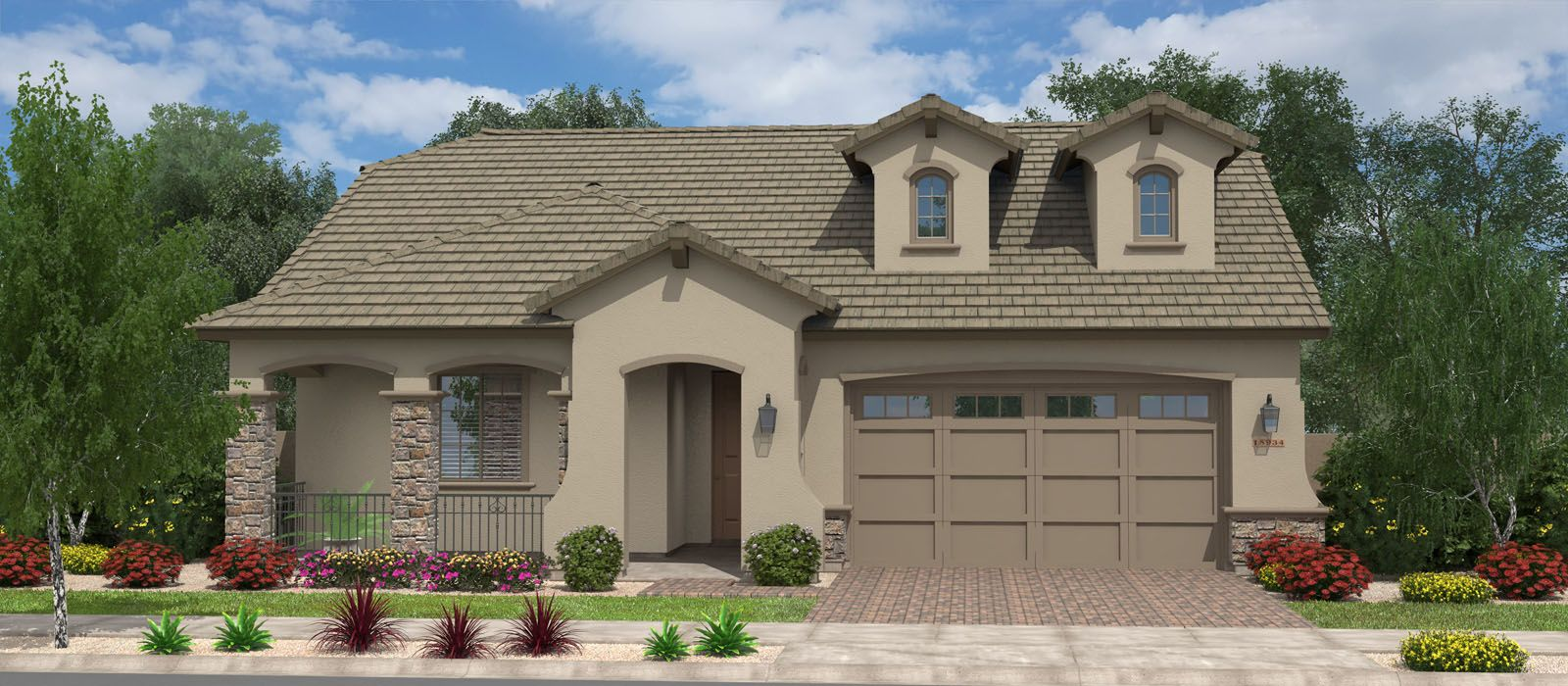 Exterior featured in the Live Oak By Fulton Homes in Phoenix-Mesa, AZ