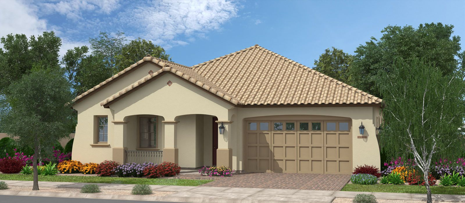 Exterior featured in the Sequoia By Fulton Homes in Phoenix-Mesa, AZ