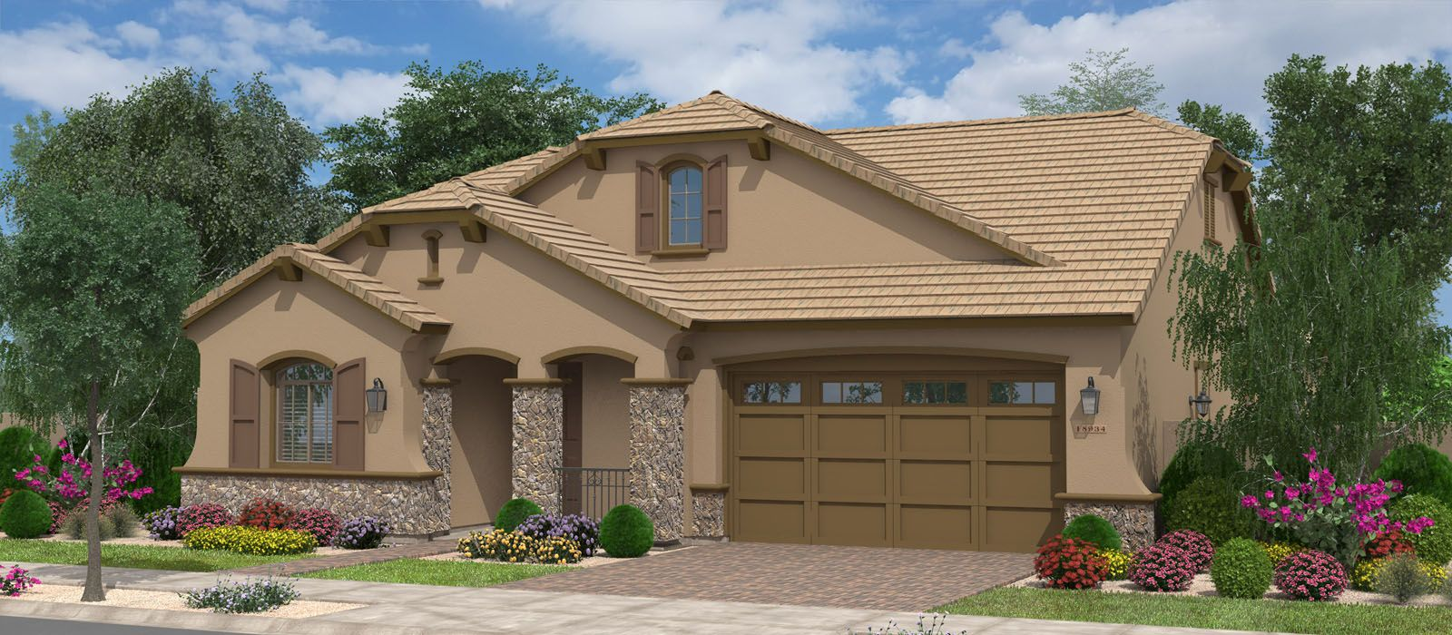 Exterior featured in the Redwood By Fulton Homes in Phoenix-Mesa, AZ