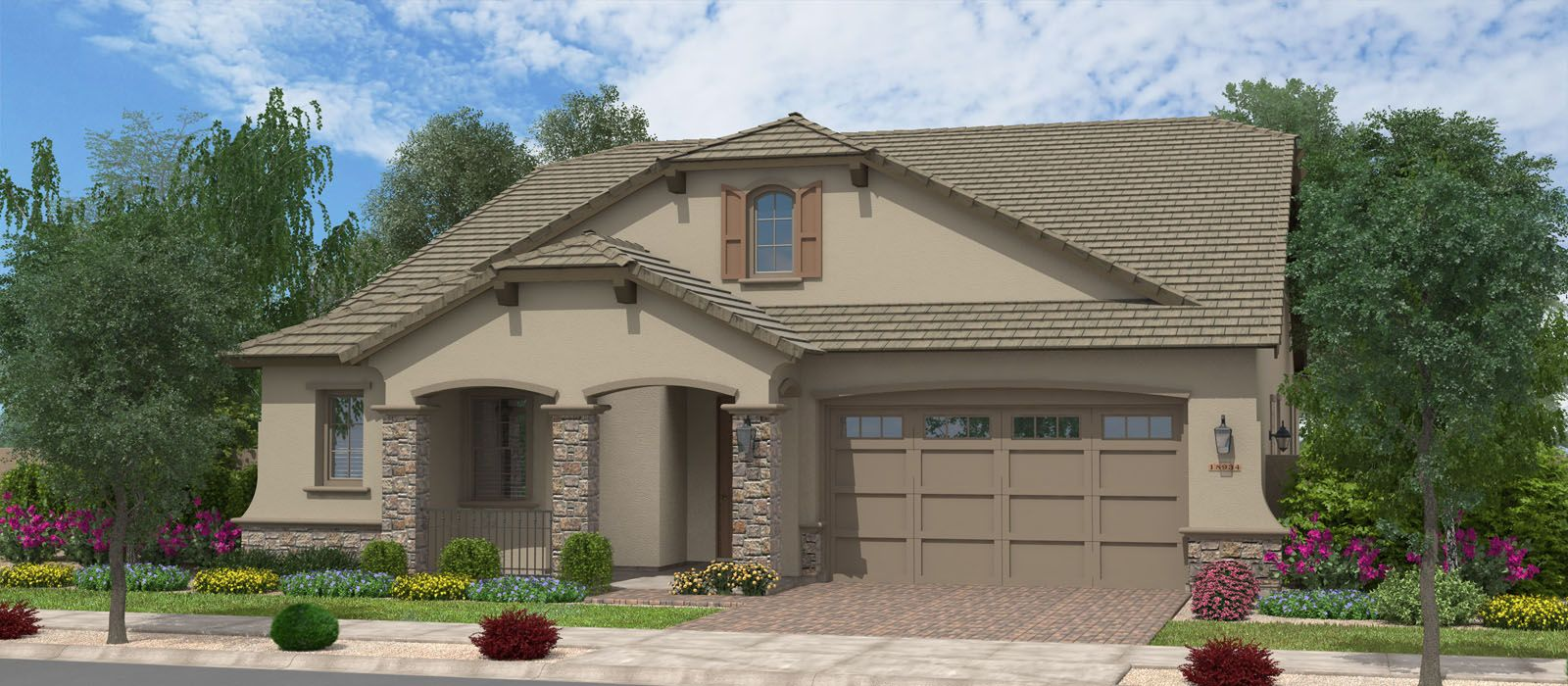 Exterior featured in the Sequoia w/Loft By Fulton Homes in Phoenix-Mesa, AZ
