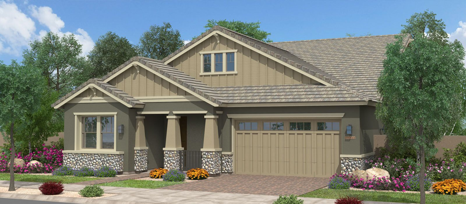 Exterior featured in the Redwood w/Loft By Fulton Homes in Phoenix-Mesa, AZ