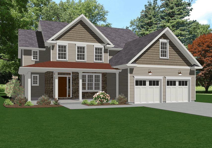 Exterior featured in The Berwyn By Keswick Pointe in Poconos, PA
