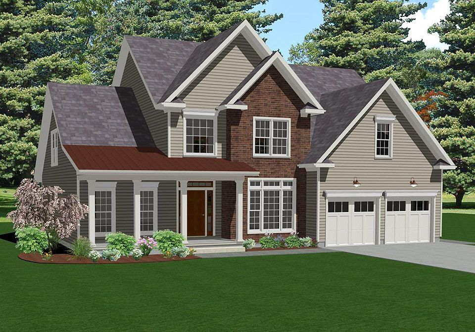 Exterior featured in The Haverford By Keswick Pointe in Poconos, PA