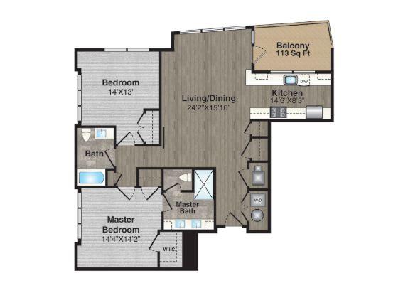 Floor Plans:Unit 307