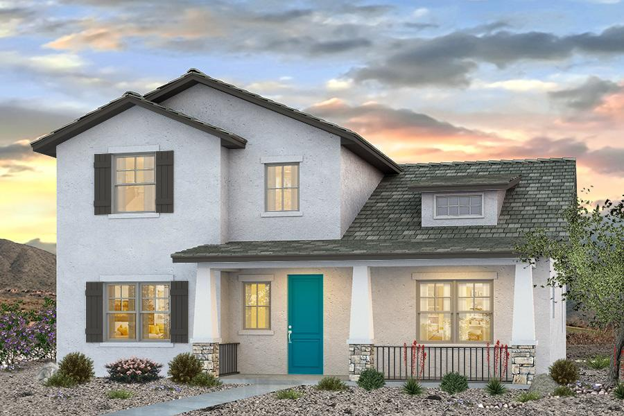 Exterior:The Stout Included Craftsman Elevation