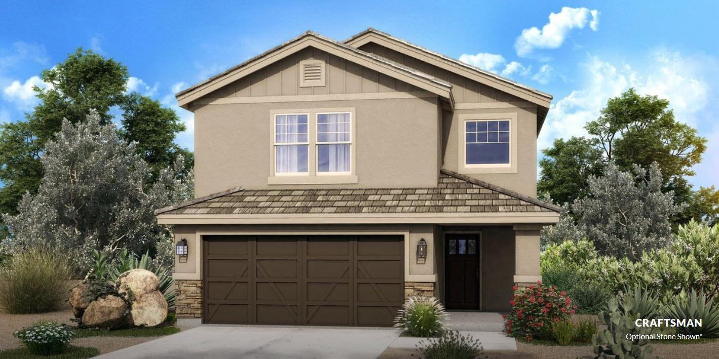 The Crawford :Craftsman Elevation