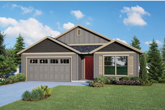 Plan 1549 Elevation 2 Rendering by Aho Construction:Plan 1549 Elevation 2