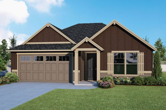 Plan 1549 Elevation 2 Rendering by Aho Construction:Plan 1714 Elevation 2 Rendering